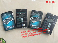 Black/White mini I8 Wireless flying Remote Control Mini Keyboard Touchpad with LI-ION Battery