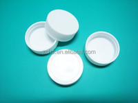 30mm screw lid, white pp plastic jar bottle cap