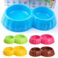 Dry food and water to separate thicken dog bowl silicone