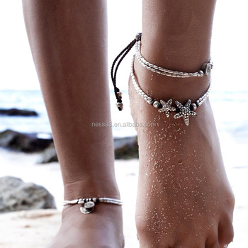 Fashion Anklet Silver Jewelry Wholesale HZS-0133