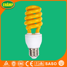 13W yellow spiral mosquito repellent light bulb