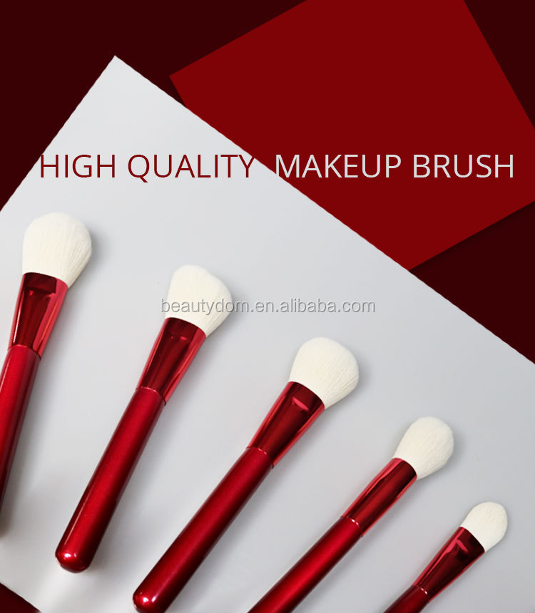 BeautyDom makeup brush 12 pieces wood handle OEM/ODM brush set wool horse hair fiber Synthetic Hair private label makeup brushes
