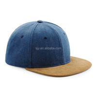 Wholesale fitted two tone simple blank vintage snapback cap