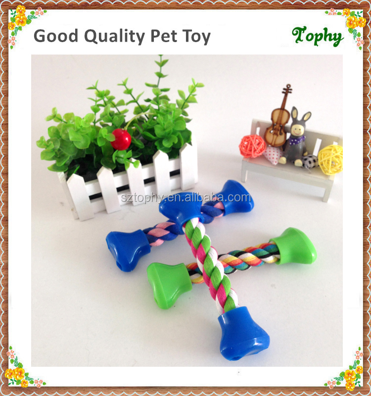 Pet Dog Cat Cotton Rope Chew Toys, bone shape Cute Toys for Pets