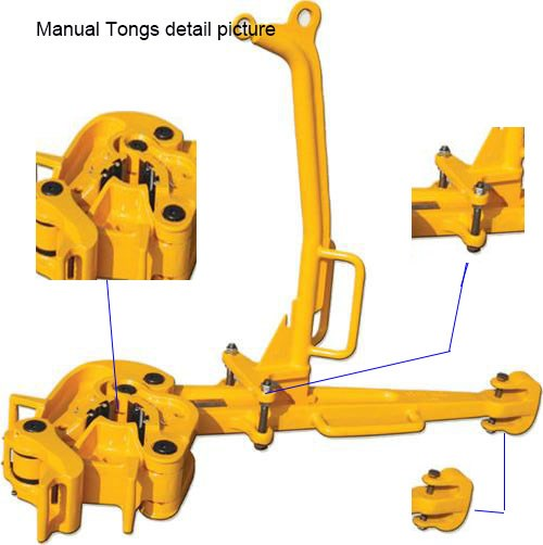 API C Type Manual Tongs for making up Well Drilling Pipe Casing Joint and Coupling