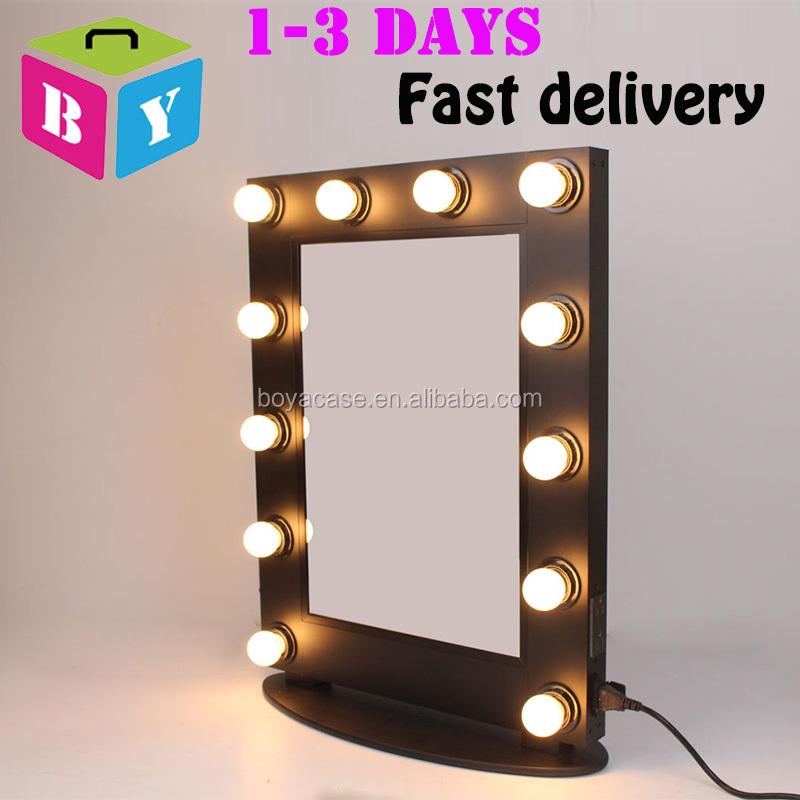 Commercio all 39 ingrosso bianco argento nero rosa colore - Specchio con lampade intorno ...