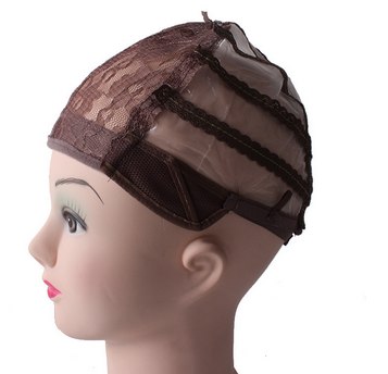 Wholesale adjustable mesh weaving Wig Cap, Non-woven fabric gummed paper wig cap for making wigs