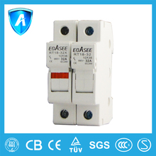 CE certified RT18 din rail mounted fuse link fuse holder