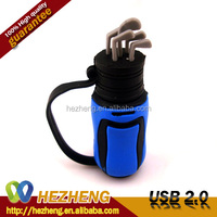 PVC Bag Shape USB 2.0 Wholesale 16GB Golf USB Flash drives