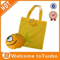 Hot fish shape shopping bag fold up recycle ripstop bag material nylon bag