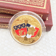 France Eiffel Tower Commemorative Coins Golden Paris Wish French Architecture Gifts Metal Souvenir Coin