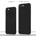 DFIFAN For iPhone 7 Case Matte Black Soft TPU Protective Case For Apple iPhone 7 Plus for Iphone 8 covers