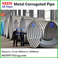 Corrugated metal pipe made from galvanized steel oil and natural gas pipeline steel tunnel lining plate
