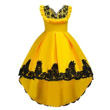European and American style kid tailed evening <strong>dress</strong> High grade flower girl <strong>dresses</strong> 10 year old <strong>girl's</strong> Birthday party <strong>Dress</strong>