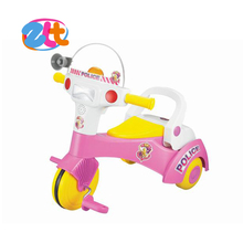 Plastic pushing 3 wheel ride on children toys car