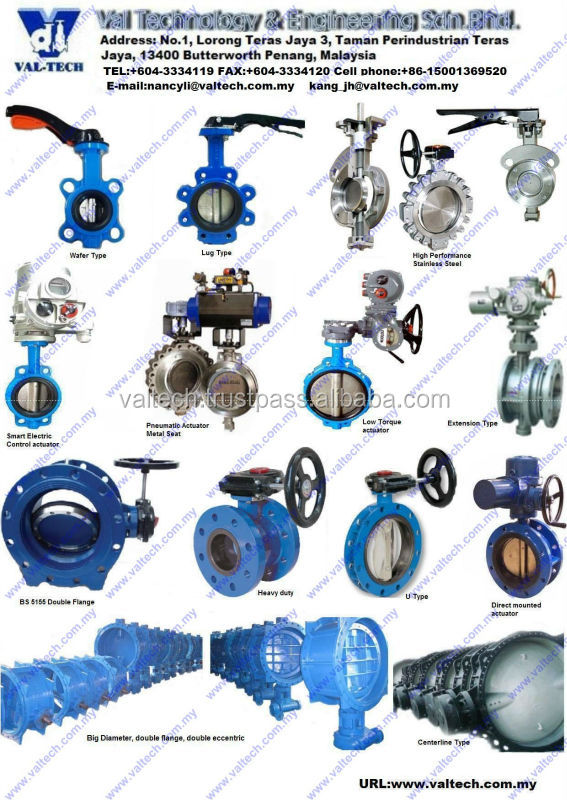 Stainless Steel Gear Operators Butterfly Valve