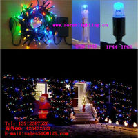 Indoor outdoor ip44 waterproof rubber cable LED connectable string light For Holiday/Christmas/Wedding decorate