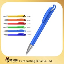 Wholesale Office six color plastic ballpoint pens with banner pen and ball pen