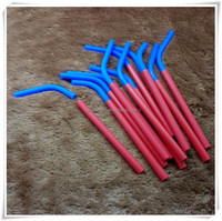 Straws for hot drink, Easy clean reused silicone straw, silicone rubber straw