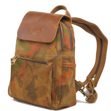 2058 New Fashionable Coffee Canvas Hidden Compartment Backpack for <strong>School</strong>