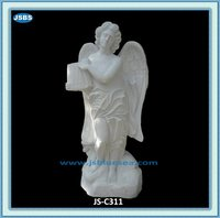 Hand carved stone indoor decorative angel statue