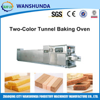 Gas heating type wafer biscuit baking oven