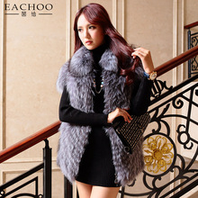 Grey short style fitting sexy ladies fur vest