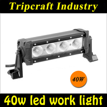 single row 40W led light bar, led offroad light bar for vehicles
