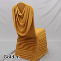flowing drapery spandex chair cover for wedding decoration