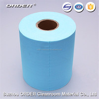 Smooth textured hygienic lint free wiping roll for industrial cleaning