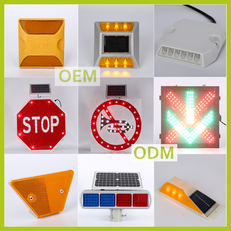 Traffic signs and names Solar traffic lights