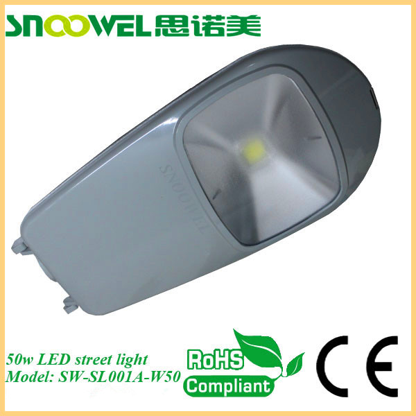 Bridgelix led chip menawell driver waterproof street light led 50w