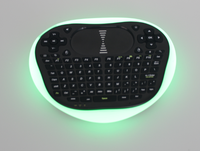 Rii T8+ 2.4Ghz LED Backlit Mini Wireless Keyboard Air Mouse With Built-in Lithiumion batteries/dry ce for Desktop,Laptop,Tv box