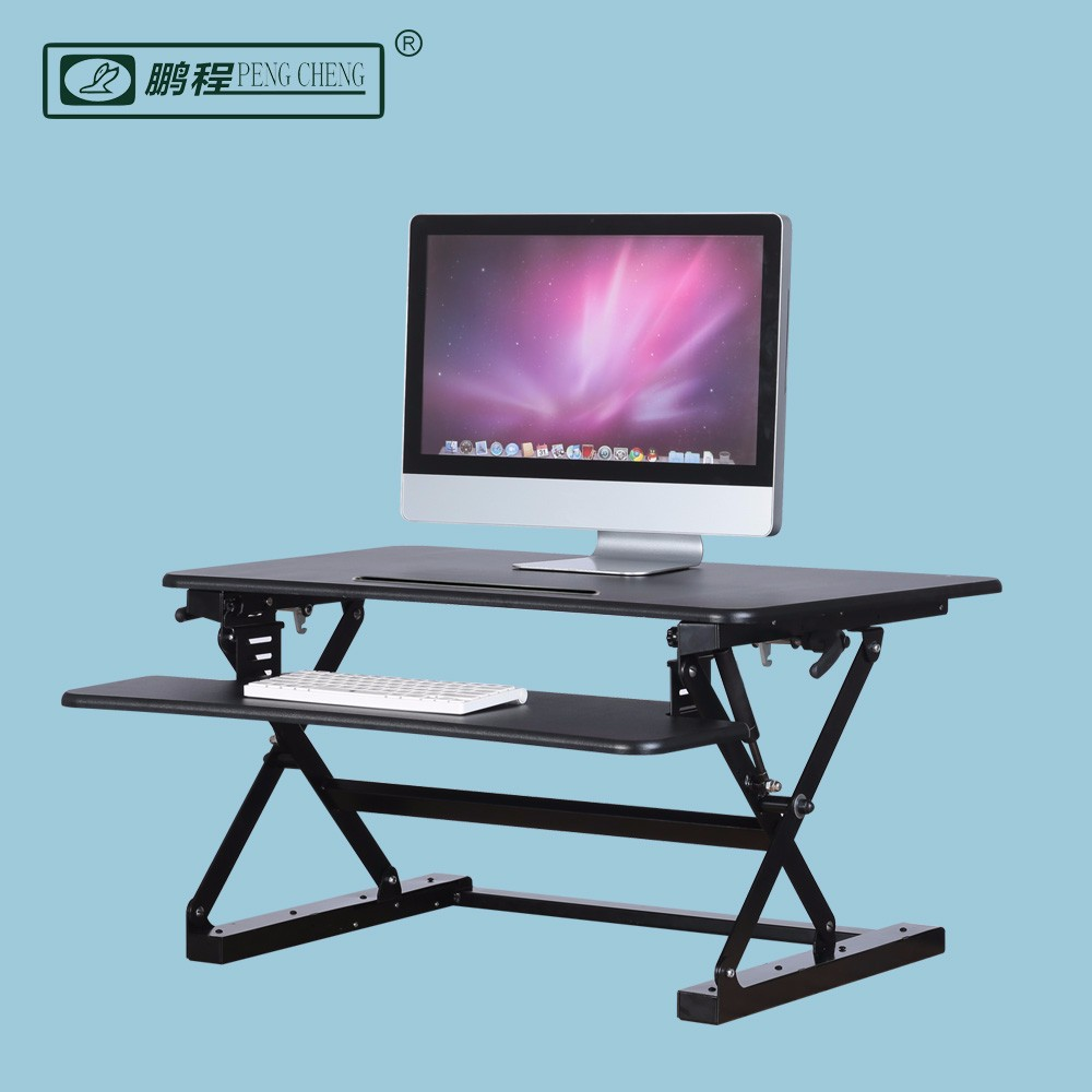 Height Adjustable Stand Up Desktop Computer Table