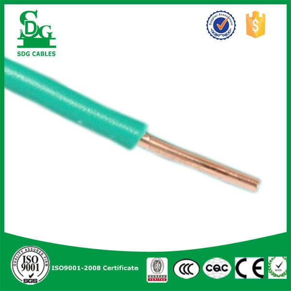 single core strand pvc insulated copper wire and cable 450/750v