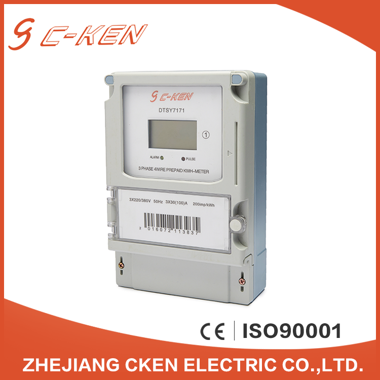 High Quality 3 Phase 4 Wire Energy Meter Connection Smart Prepayment KWH Meter Prepaid Electronic Meter