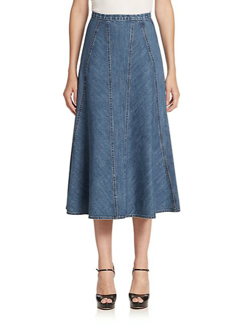 fashion jean skirt denim jean wholesale midi denim
