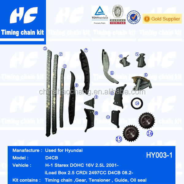 Timing chain kit used for Hyundai Starex H-1 16V 2.5L 2001-