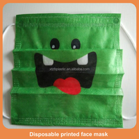 hospital grade disposable printed face mask/printing disposable 3 ply face mask/dental clinic disposable face mask