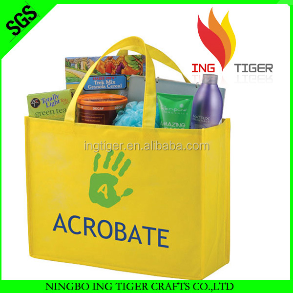 Alibaba China Factory For Promotion Cheap Price yellow tote bag