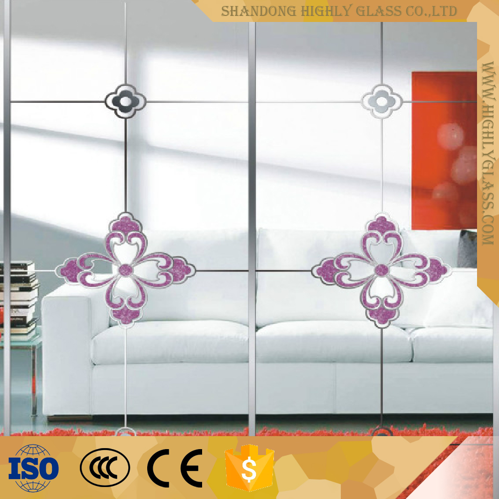 New designs decorative glass for office partition