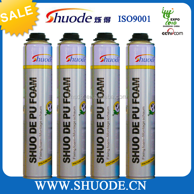 high quality 750ml concrete joint pu foam sealant