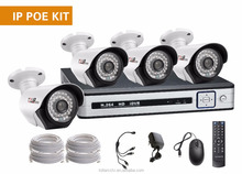 1080P HD network security full set 4CH NVR+4pcs 36pcs IR LEDs ID Camera with ONVIF POE mobile HD NVR and ip camera complete set
