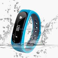 E02 Sport bluetooth bracelet smart watch healthy Silicone Wristband for IOS And