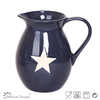 Hot selling Delicate Star Stoneware Houseware Ceramic Pitcher