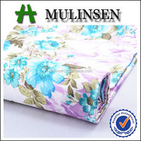 Mulinsen digital printed dress material patterns/ satin fabric roll