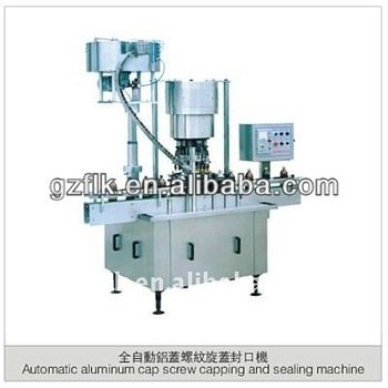 Hot selling Automatic aluminum cap screw capping and sealing machine for packing