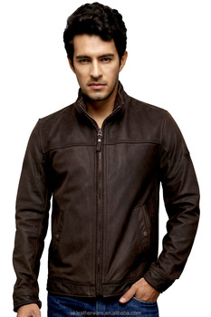 Fashion Cowskin Vintage Leather Jackets for Men