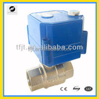 DC5V 1 inch motor ball valve with position indicator and manual whheel for Irrigation system,cooling/heating system