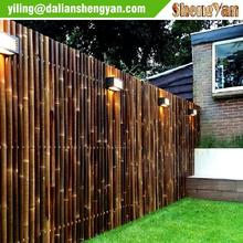 Carbonized Brown Decorative Bamboo Fencing Supplier